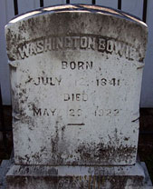 Col. Washington Bowie's Gravestone - click to launch popup