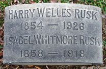 Harry Welles Rusk's Graveyard - click to launch popup
