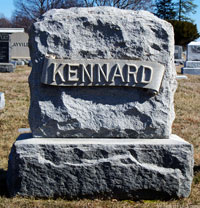Charles Kennard's Gravestone - click to launch popup